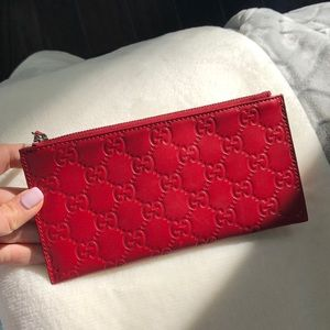 Gucci red wallet